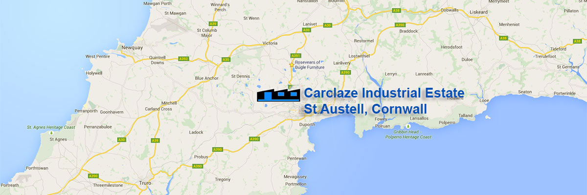 location-of-carclaze-industrial-estate